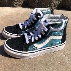 Vans Kids Dino & Surf Hightop Skater Shoes